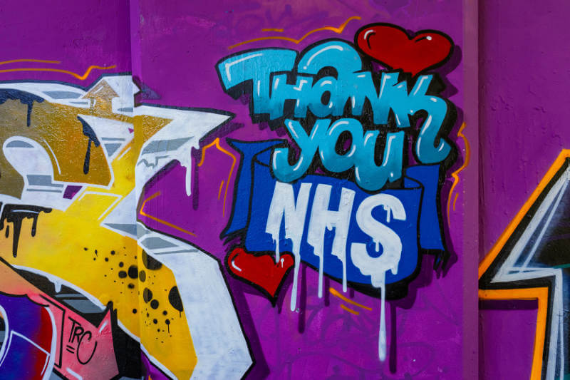 thank you nhs graffiti