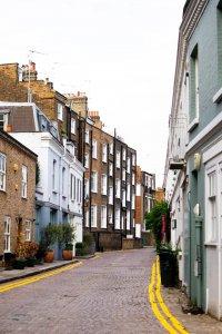 flats in a london street
